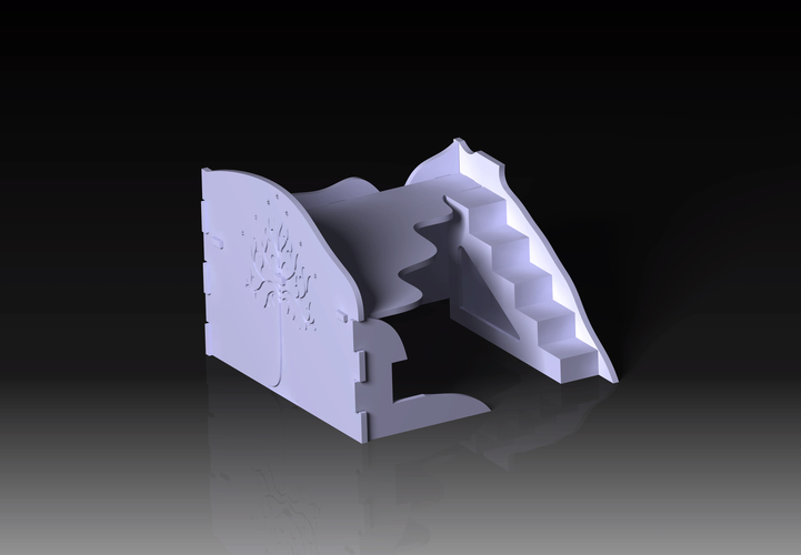 Destroyed building warhammer scenography 3D Print 160965