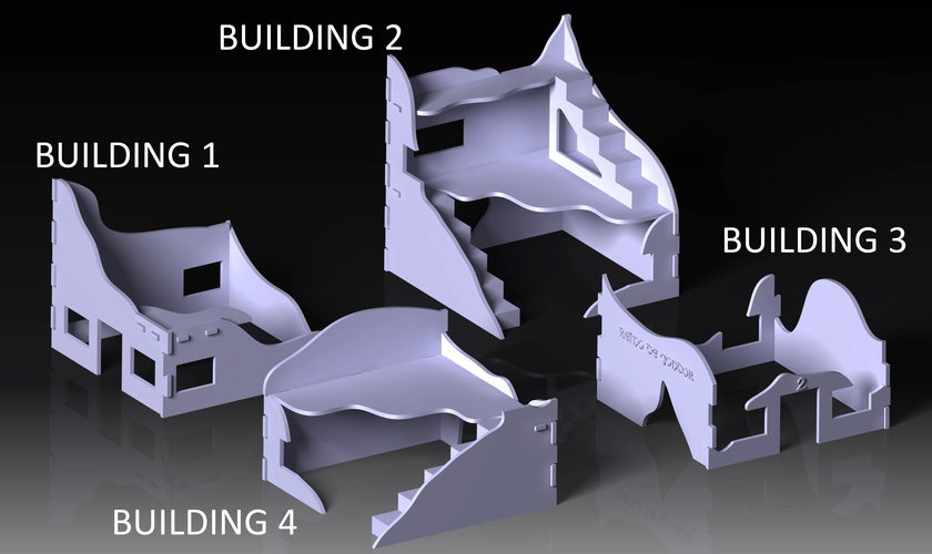 Destroyed building warhammer scenography 3D Print 160968