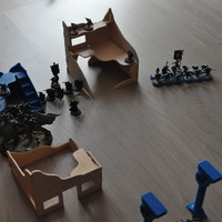 Small Destroyed Village warhammer scenography 3D Printing 160978