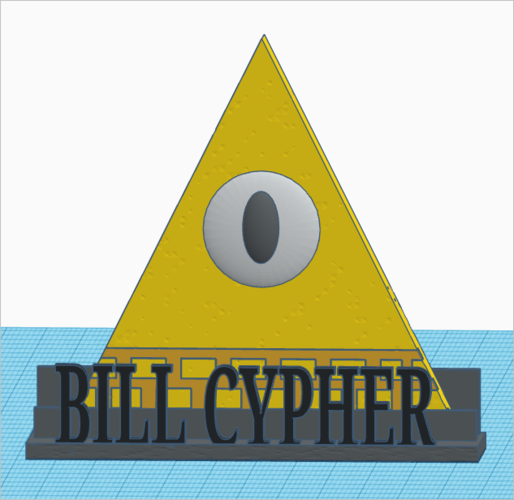 Gravity Falls: Bill Cypher+Stand  (textured) 3D Print 161093