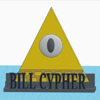 Small Gravity Falls: Bill Cypher+Stand  (textured) 3D Printing 161093