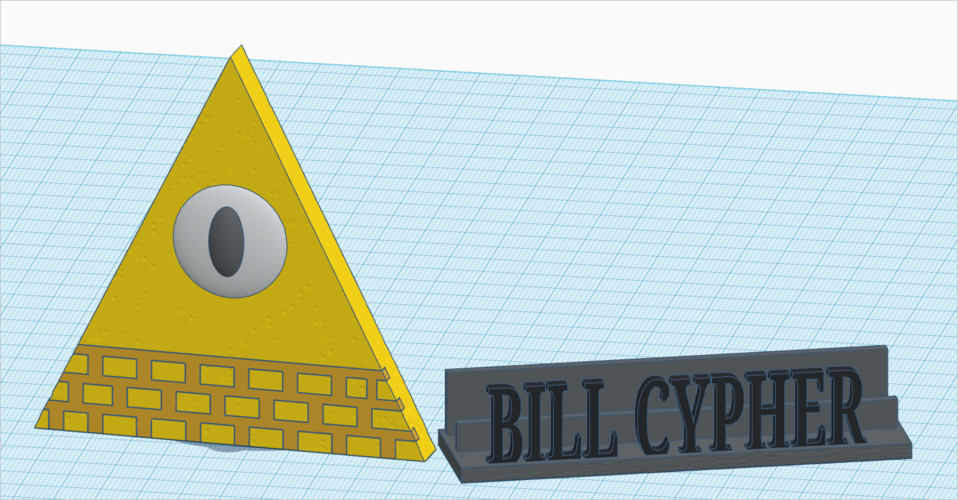 Gravity Falls: Bill Cypher+Stand  (textured) 3D Print 161094