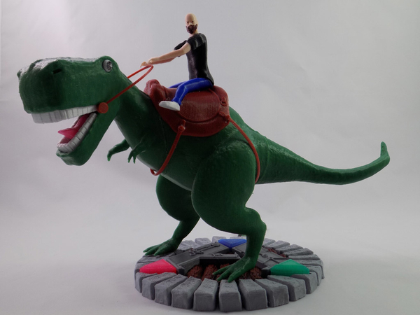 Medium KING - My Awesome T-Rex Companion 3D Printing 161315