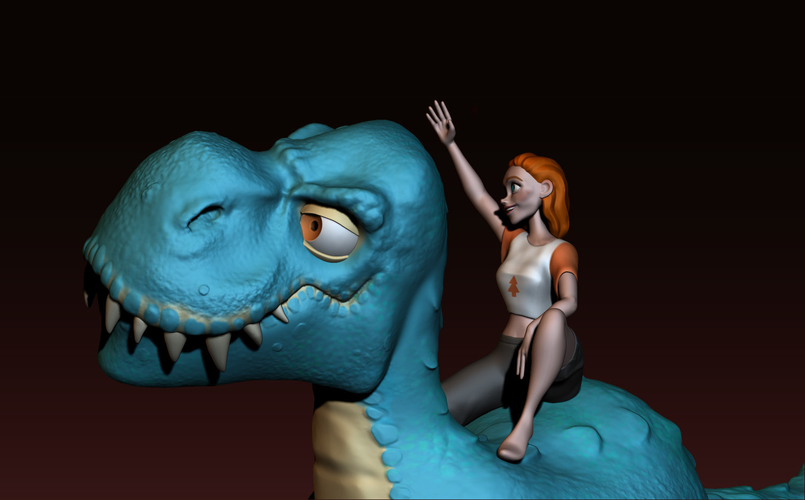 The T-rex girl 3D Print 161359