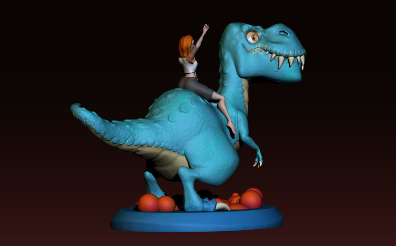 The T-rex girl 3D Print 161360