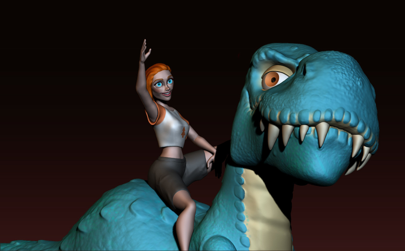 The T-rex girl 3D Print 161361