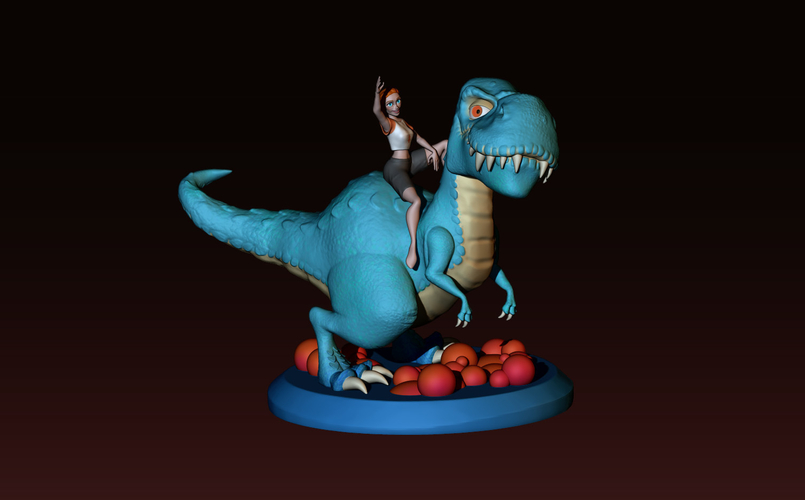 The T-rex girl 3D Print 161362