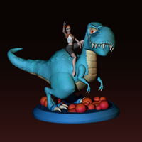 Small The T-rex girl 3D Printing 161362