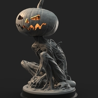 Small Pumpkin Monster 3D Printing 161754