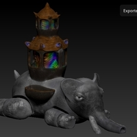 Small City Dream Elephant 3D Printing 162136