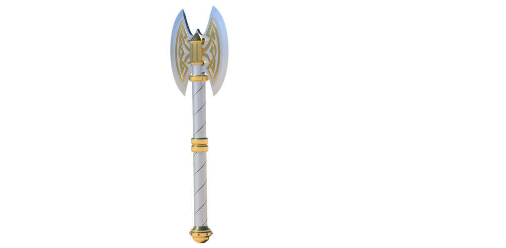 Two Handed Dwarven Battle Axe 3D Print 162392