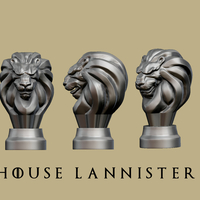Small Game of thrones - Lannister Marker 3D Printing 162454