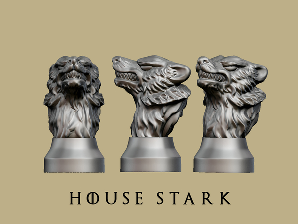 Medium Game of thrones - House Stark 3D Printing 162455