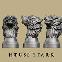 Small Game of thrones - House Stark 3D Printing 162455