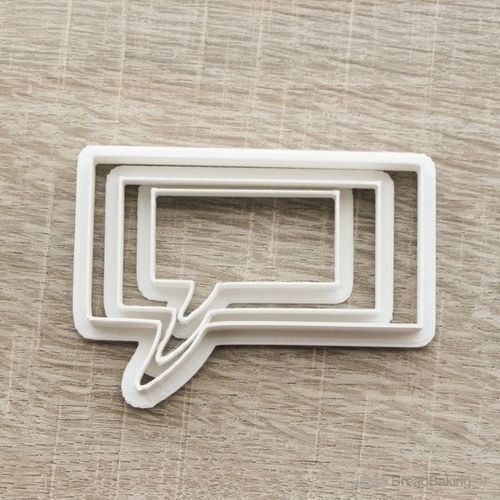 Cloud to comics set 3 cookie cutter for professional 3D Print 162569