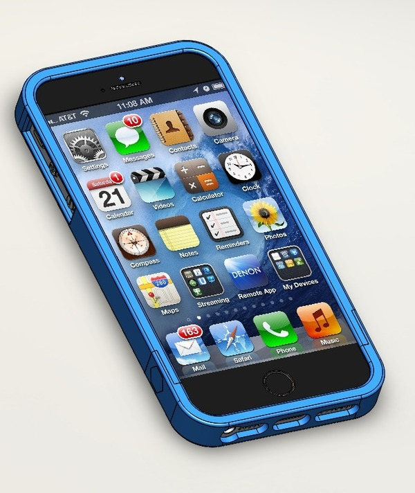 Medium iPhone 5/5S case/bumper 3D Printing 16260