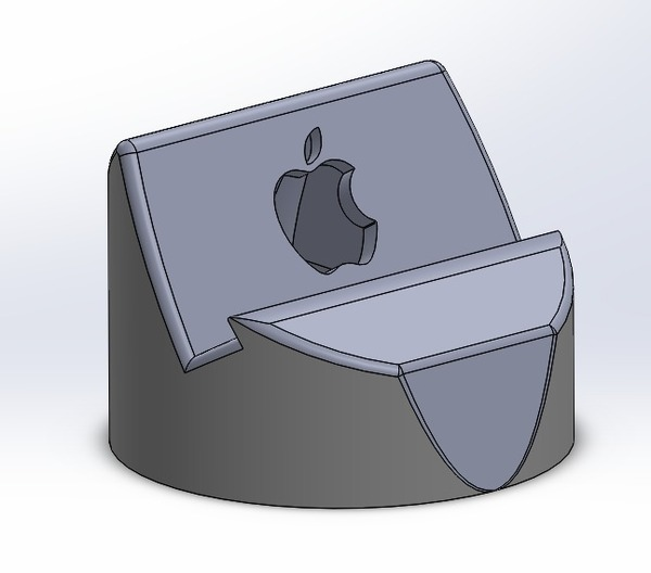 Medium iPhone 5/5s dock 3D Printing 16266