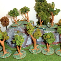 Small Miniature trees for Wargame - 3 models 3D Printing 162764