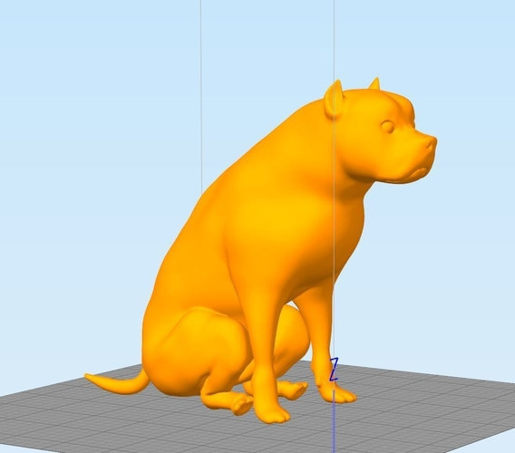 Pitbull - Behaved Pose 3D Print 162927