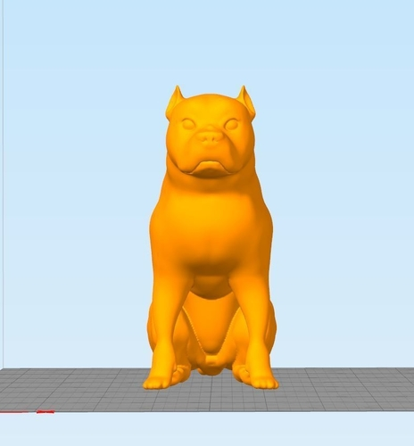 Pitbull - Behaved Pose 3D Print 162928
