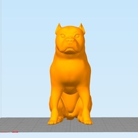 Small Pitbull - Behaved Pose 3D Printing 162928