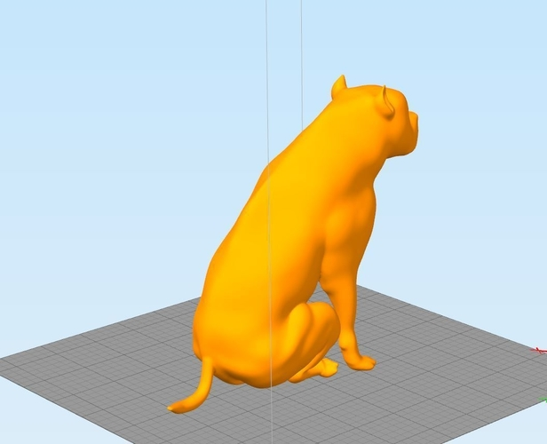 Pitbull - Behaved Pose 3D Print 162929