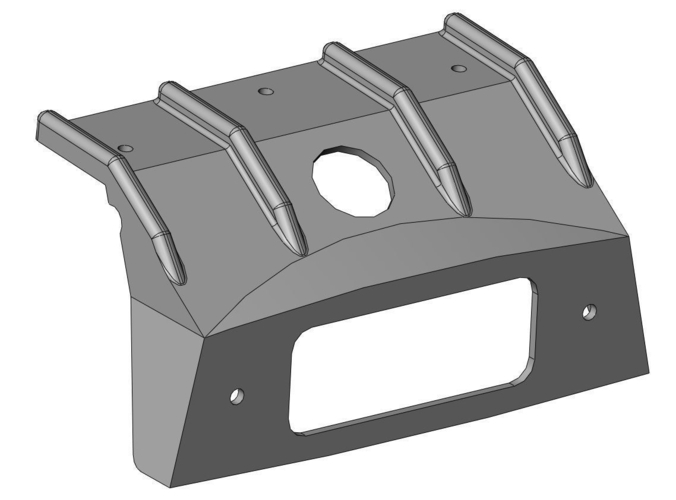 MG Midget interior lamp mounting bracket 3D Print 163024