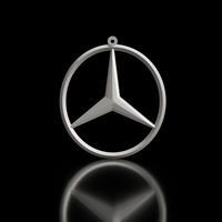 Small Mercedes Keychain 3D Printing 163173