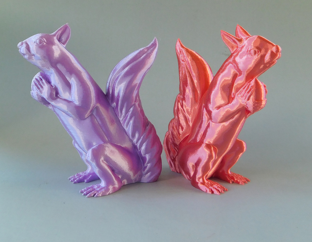 Squizzle! A No Supports Squirrel Sculpt  3D Print 163246