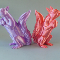 Small Squizzle! A No Supports Squirrel Sculpt  3D Printing 163246