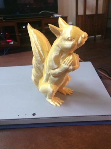 Squizzle! A No Supports Squirrel Sculpt  3D Print 163247