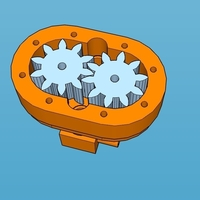 Small gear pump 3D Printing 163326