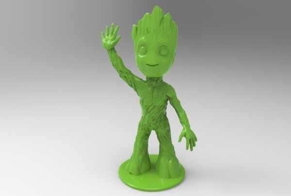 Medium baby groot standing waving 3D Printing 163343