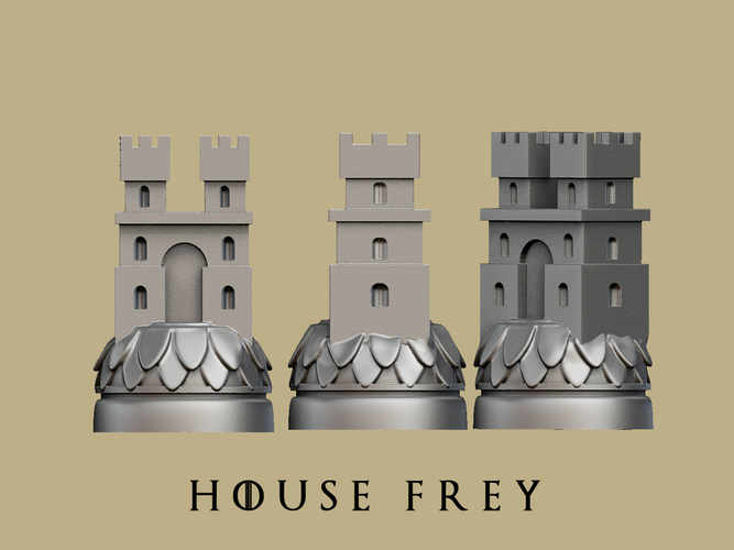 Game of thrones Frey Marker reproduction 3D Print 163369