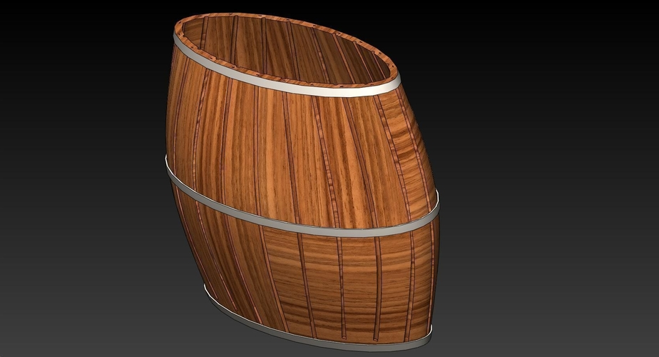100mm Tall by 100mm Wide Oval Barrel 3D Print 163448