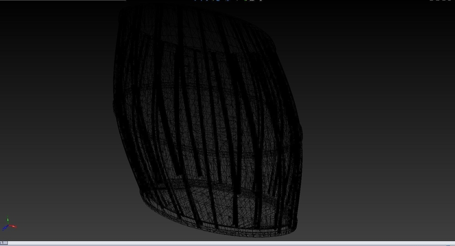 100mm Tall by 100mm Wide Oval Barrel 3D Print 163449