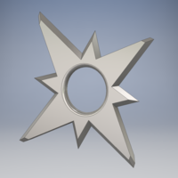Small Throwing Star V.1 3D Printing 163527