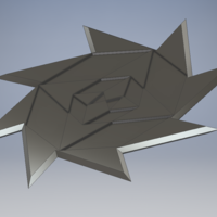 Small Throwing Star V.3 3D Printing 163532