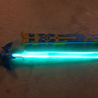 Small Glowing Master Sword REMIX 3D Printing 163554