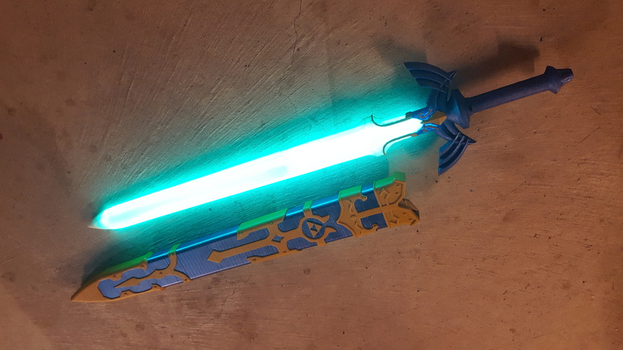 Glowing Master Sword [REMIX] 3D Print 163565