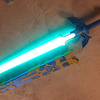 Small Glowing Master Sword [REMIX] 3D Printing 163566