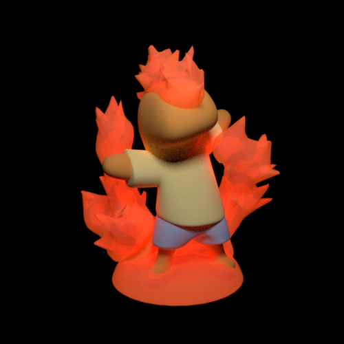 Salamander the fairy of the fire 3D Print 163589