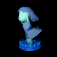 Small Undine the fairy of the water 3D Printing 163591