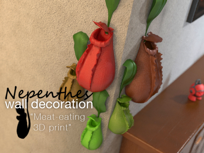 Nepenthes wall decoration 3D Print 16361