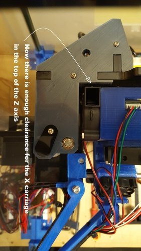 Left upper bracket for higher Z axis 3D Print 163739