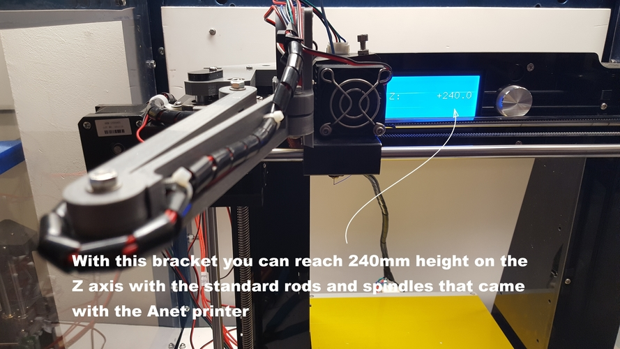Left upper bracket for higher Z axis 3D Print 163740