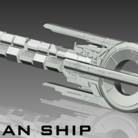 Small Quarian ship 3D Printing 163769