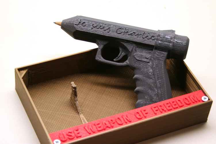 Weapon of Freedom: Je Suis Charlie 3D Print 16379