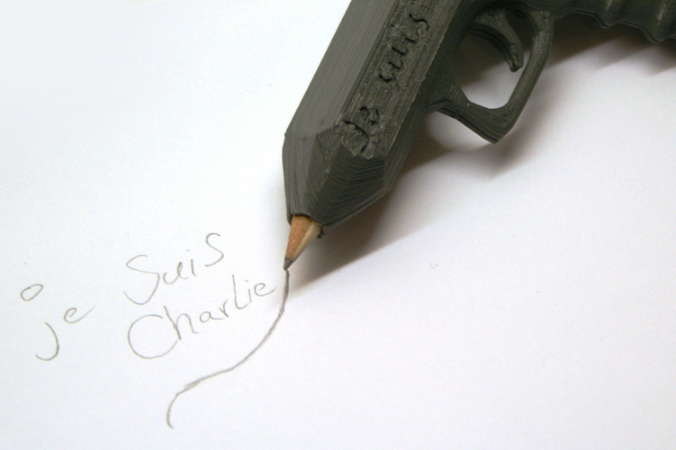 Weapon of Freedom: Je Suis Charlie 3D Print 16380