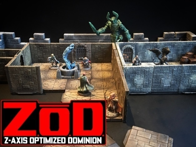 Z.O.D Terrain Tiles (Core Set) 3D Print 163843